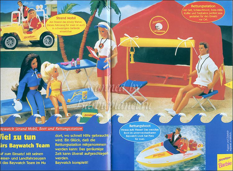 Baywatch Barbie And Ken Rescue Station Playset By Mattel