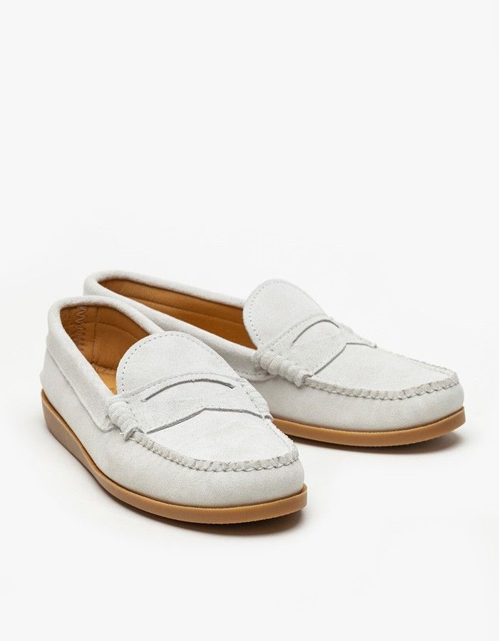 Quoddy White Penny Loafer