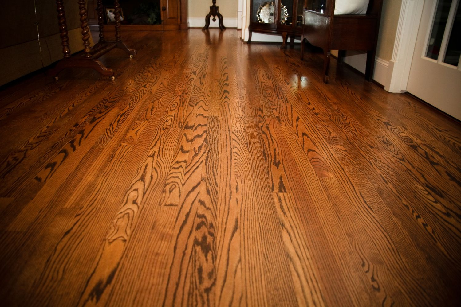 Beautiful Solid Red Oak Floors Stained Spice Brown Red Oak