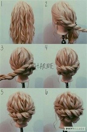 Easy updoos thick hair Cool Quick Updos for long thick hair rnbjunkiex images