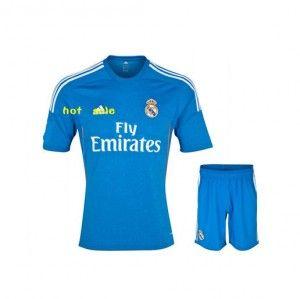 13/14 Real Madrid Calcio Assente Maglia Di Calcio Blu Maglia Kit
