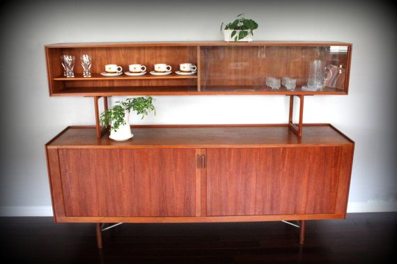 Danish Credenza Hutch : Sold do not purchase mid century danish teak credenza sideboard