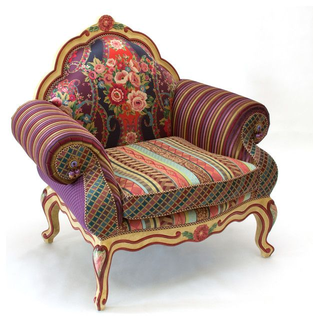 eclectic #style #armchair #design in 2019 | Upholstered ...