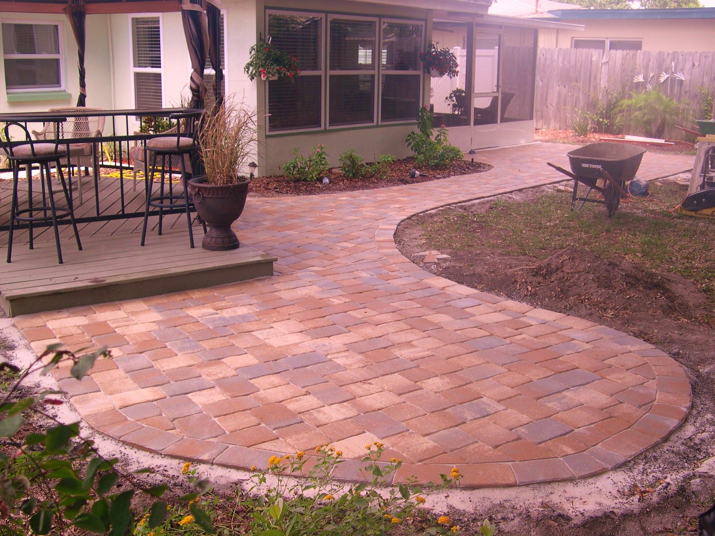 6 backyard pavers backyard pavers backyard and patios for Back garden patio ideas