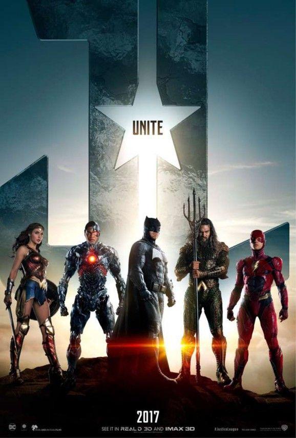 """Neues Filmposter zu """"Justice League"""". Einen neuen Trailer gibt es auch."""