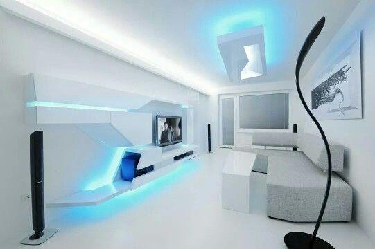 futuristic living room  futuristic interior modern