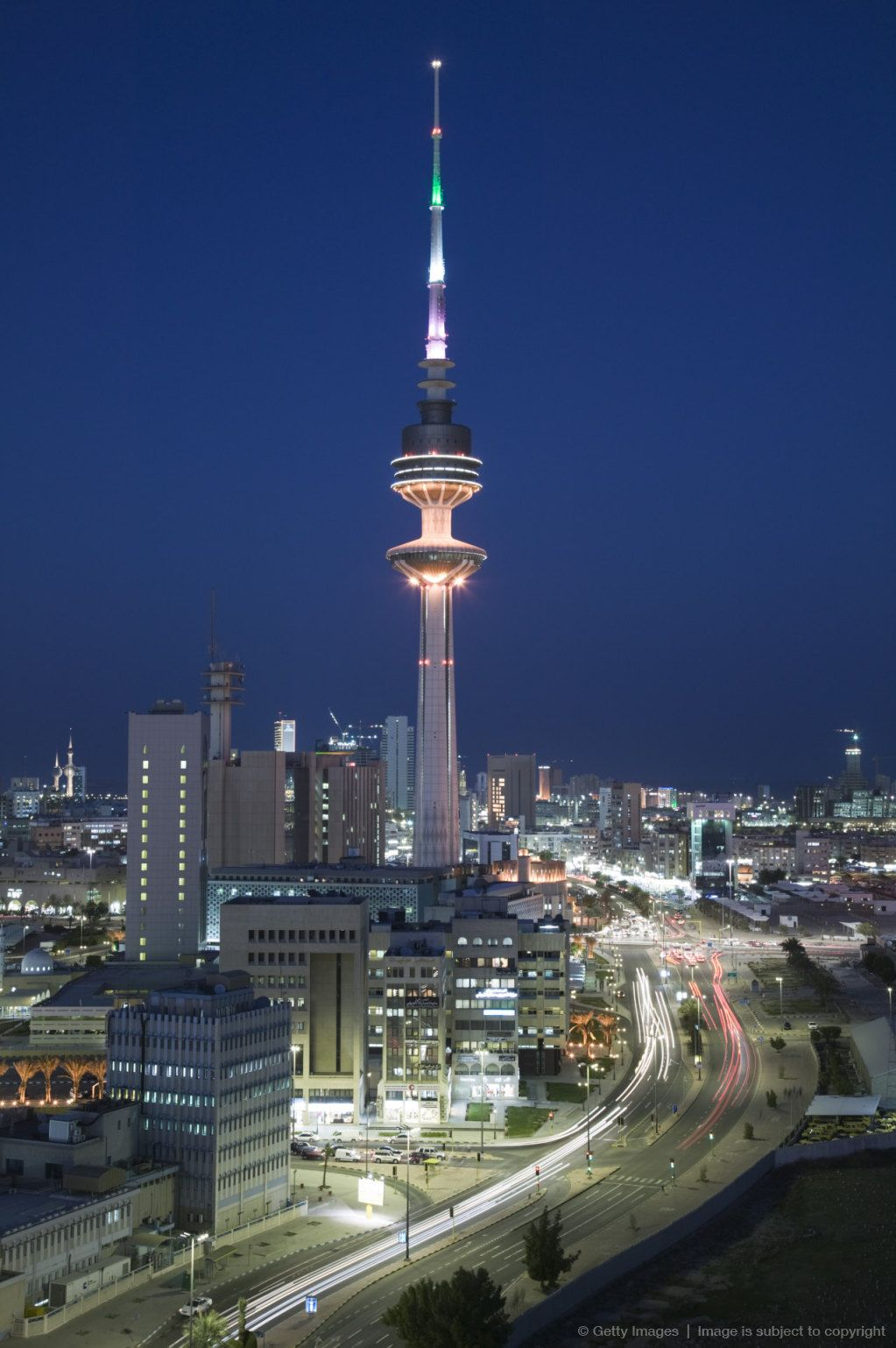 Liberation Tower And City Kuwait City Kuwaitby Walter Bibikow In
