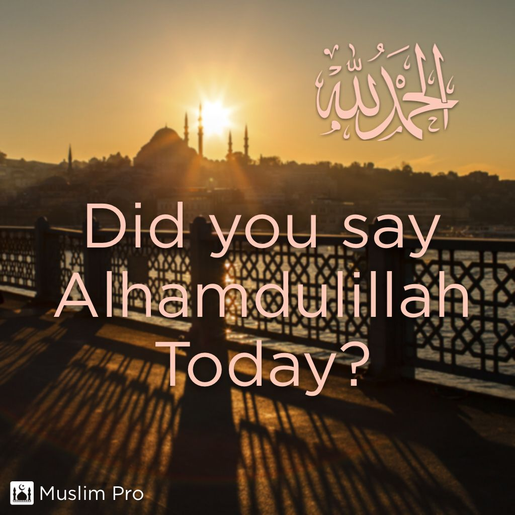 Did you say alhamdulillah today muslimpro optionalhttpwww did you say alhamdulillah alhamdulillah for everything that happens us thecheapjerseys Images