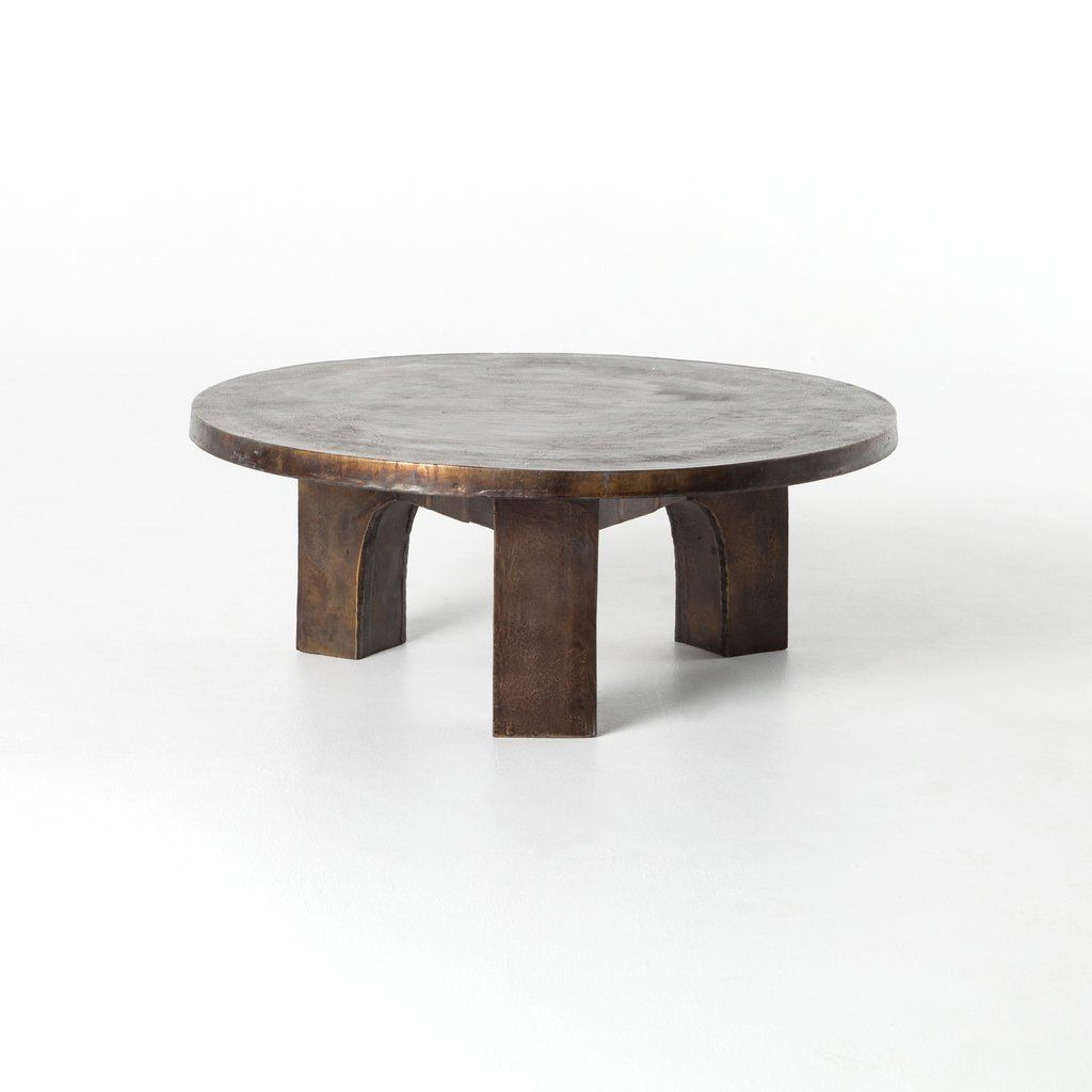 Cruz Coffee Table In Antique Rust Coffee Table Outdoor Coffee Tables Round Coffee Table [ 1024 x 1024 Pixel ]