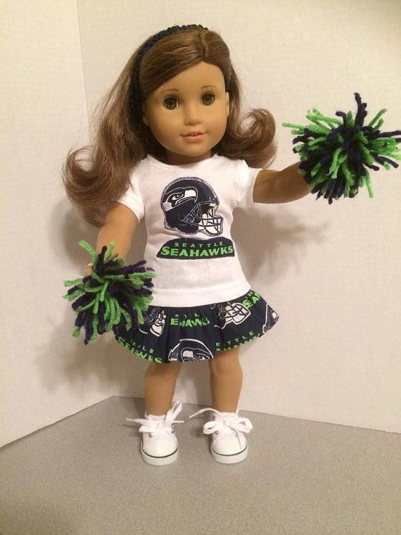 American Made 18 inch doll Clothes - Seattle Seahawks Cheerleader Outfit #18inchcheerleaderclothes 18 inch doll Clothes  Seattle Seahawks by TandLDollCreations #18inchcheerleaderclothes American Made 18 inch doll Clothes - Seattle Seahawks Cheerleader Outfit #18inchcheerleaderclothes 18 inch doll Clothes  Seattle Seahawks by TandLDollCreations #18inchcheerleaderclothes