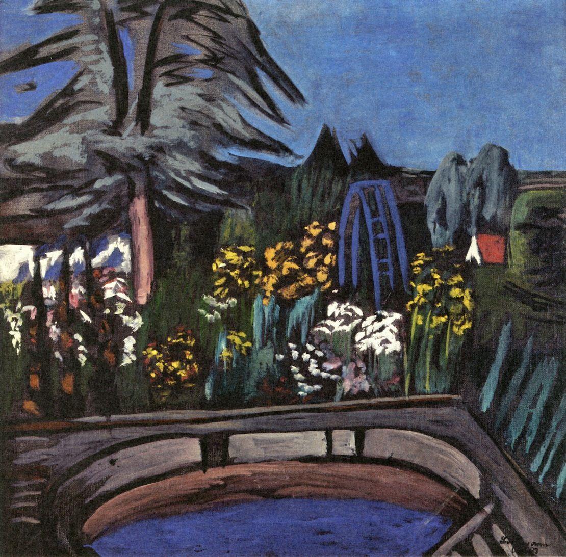 Garden In Bloom, 1933 By Max Beckmann