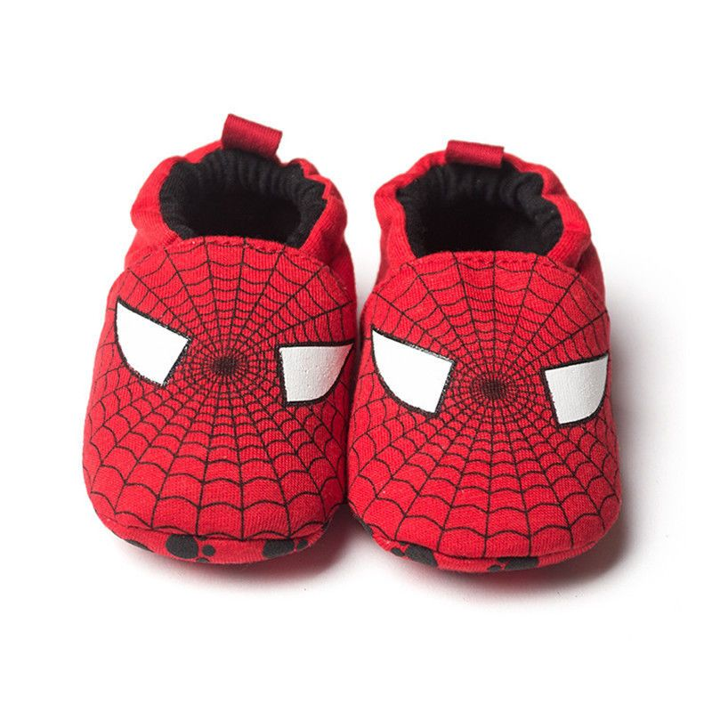 10eec2929c1 Babys Toddler Shoes Red Spider-man Soft Sole Shoes D17