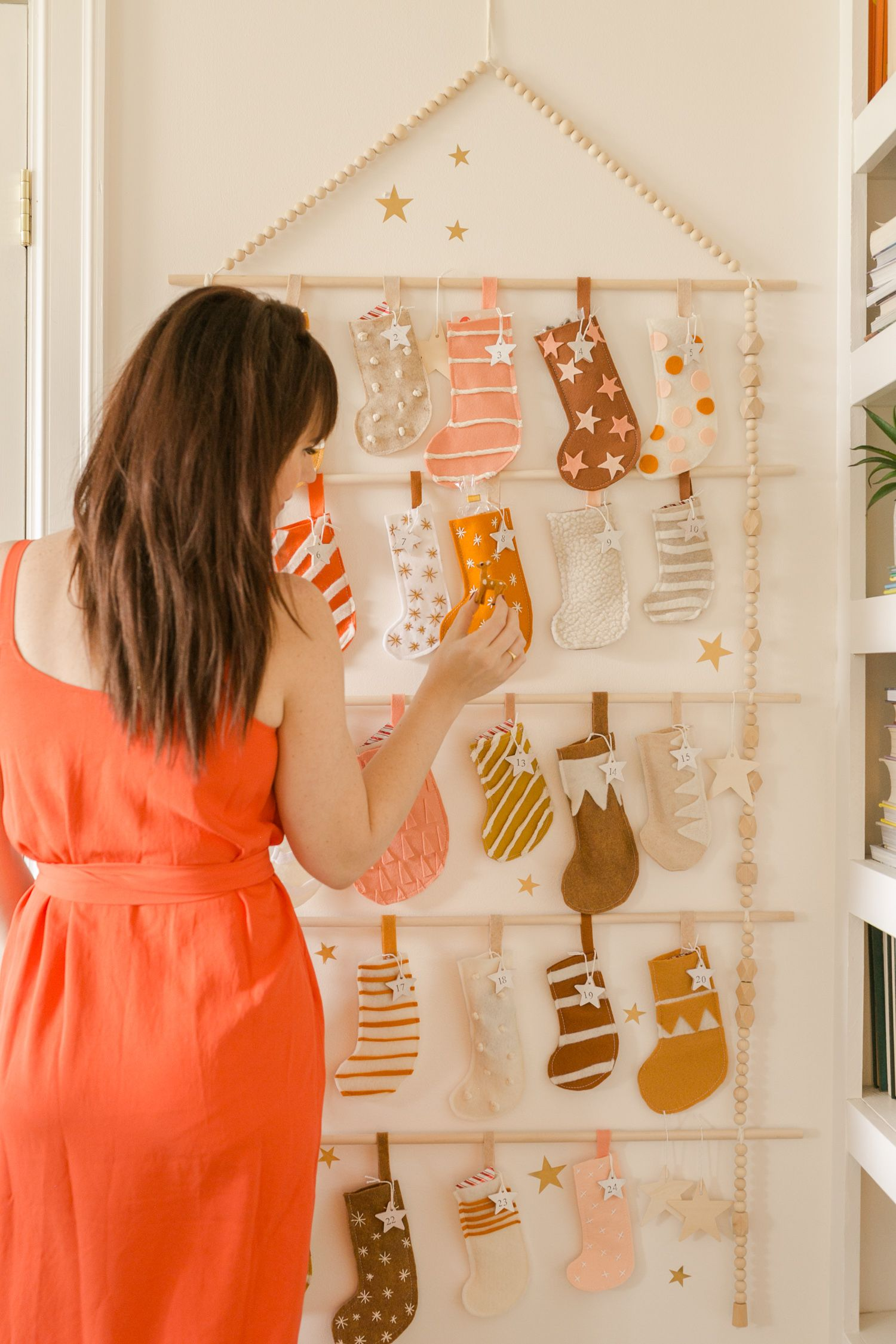Heirloom Advent Calendar DIY - A Beautiful Mess