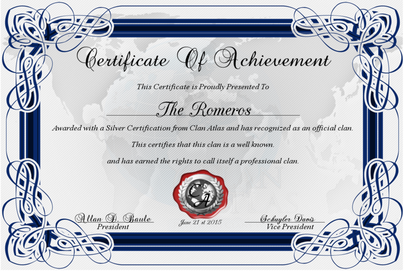 ImageeditPng  Certificate Of Achievement From Clan