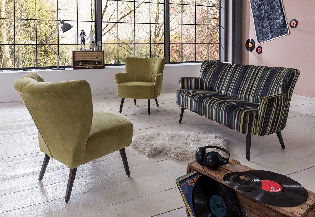 BASEL Polstersessel Sessel im Retro Vintage Stil (Stühle) - Möbel ...