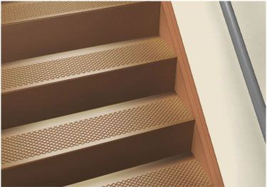 Good Roppe® Rubber Stair Tread Non Slip Diamond Design.