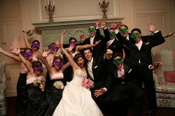 Cute masquerade wedding photo! Get your Masquerade Masks at ...