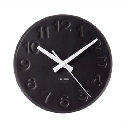 Karlsson Mr White Gold Rim Wall Clock Large Funky Gifts Nz Large Wall Clock Large Clock Wall Clock