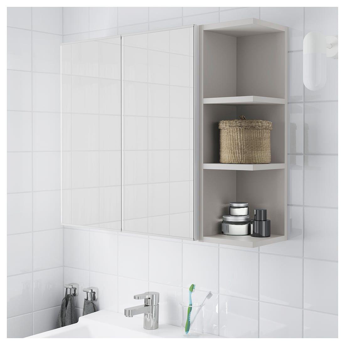 Lillangen Mirror Cabinet 2 Doors 1 End Unit White Gray 31 1 8x8