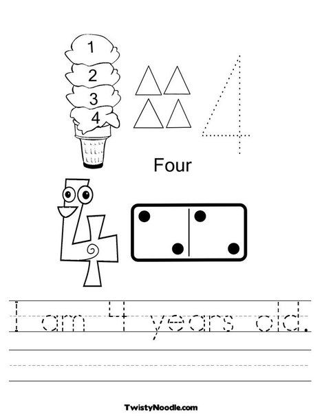 number printable worksheets | Kids learning activities, 4 ...