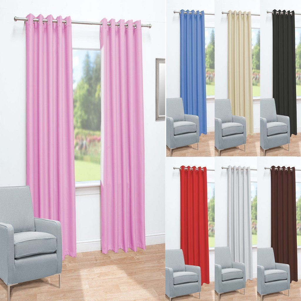 Ready Made Thermal Curtains John Aird Eyelet Thermal Energy Saving Blackout Ready Made
