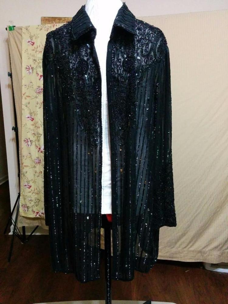 Plus Size Beaded Evening Jacket