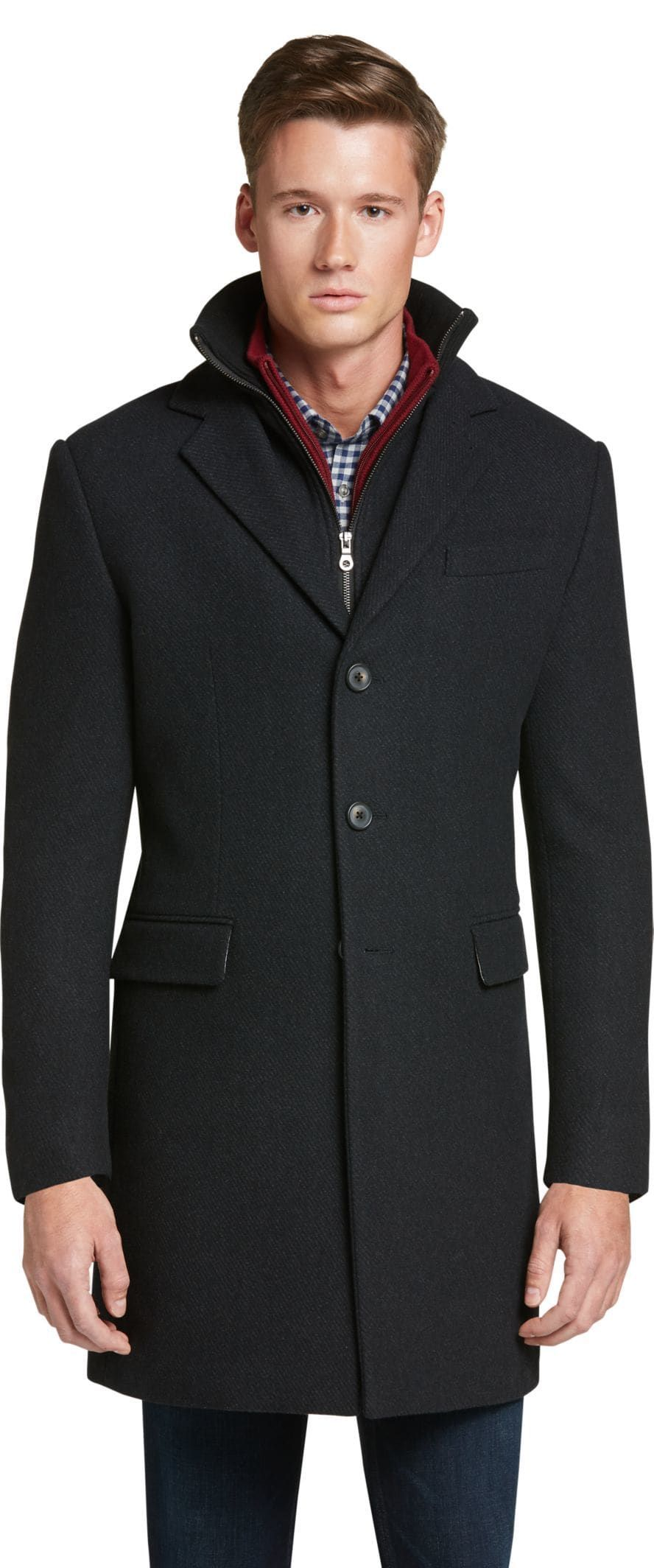 17e8b5c44 1905 Collection Traditional Fit Steep Twill Topcoat - Big & Tall CLEARANCE