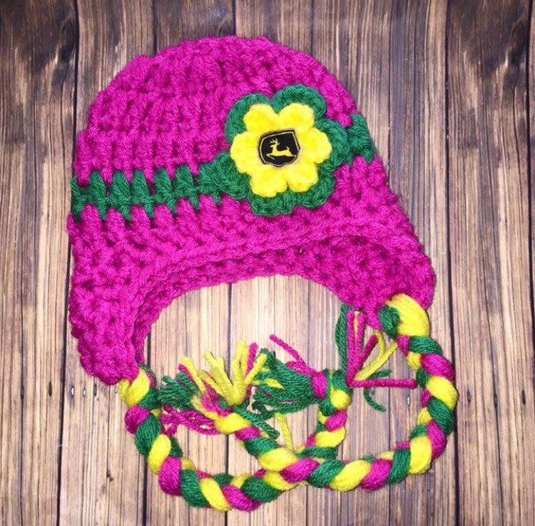 A personal favorite from my Etsy shop https://www.etsy.com/listing/290080127/pink-tractor-hat-inspired-john-deere