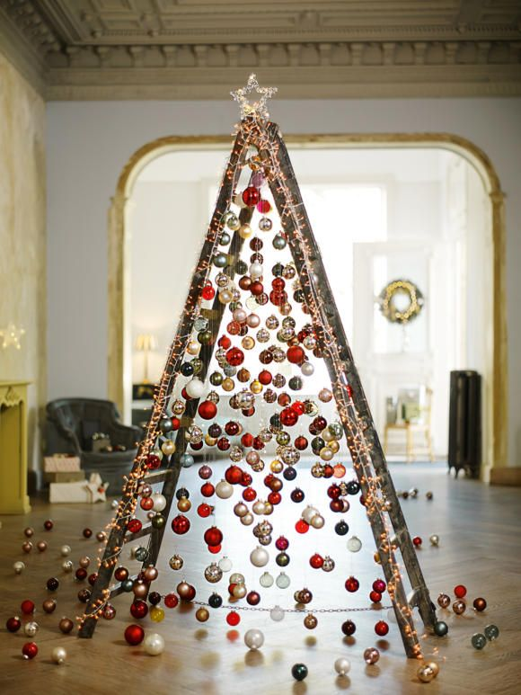 weihnachtsdeko ideen lass dich inspirieren leiter. Black Bedroom Furniture Sets. Home Design Ideas