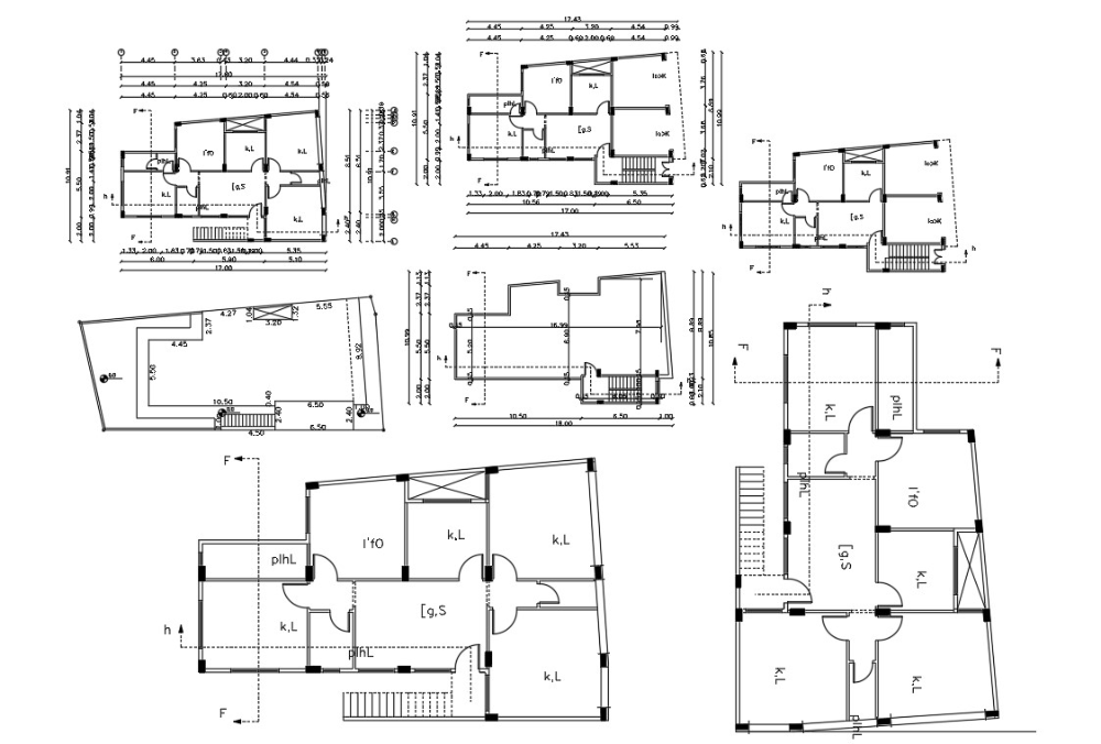 Autocad House Plan Drawing With Dimension Cadbull In 2020 House Plans Ground Floor Plan Autocad