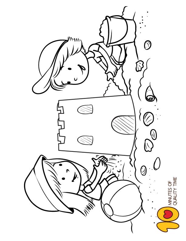 Building Sand Castle Coloring Page Coloring Pages Castle Coloring Page Building Sand