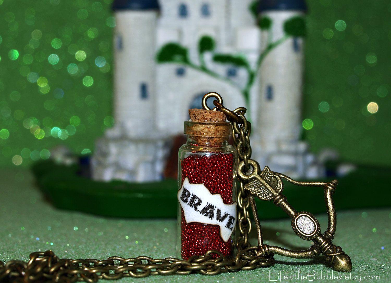 Magical BRAVE Necklace with a Bow and Arrow Charm Disney Pixar Scottish Princess Merida.