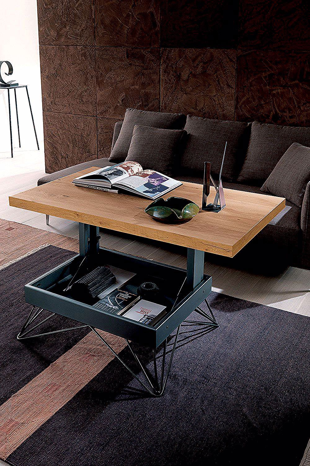 Une Table Basse Relevable Ultra Design La Maison Du Convertible Furniture For Small Spaces Coffee Table Refurbished Table