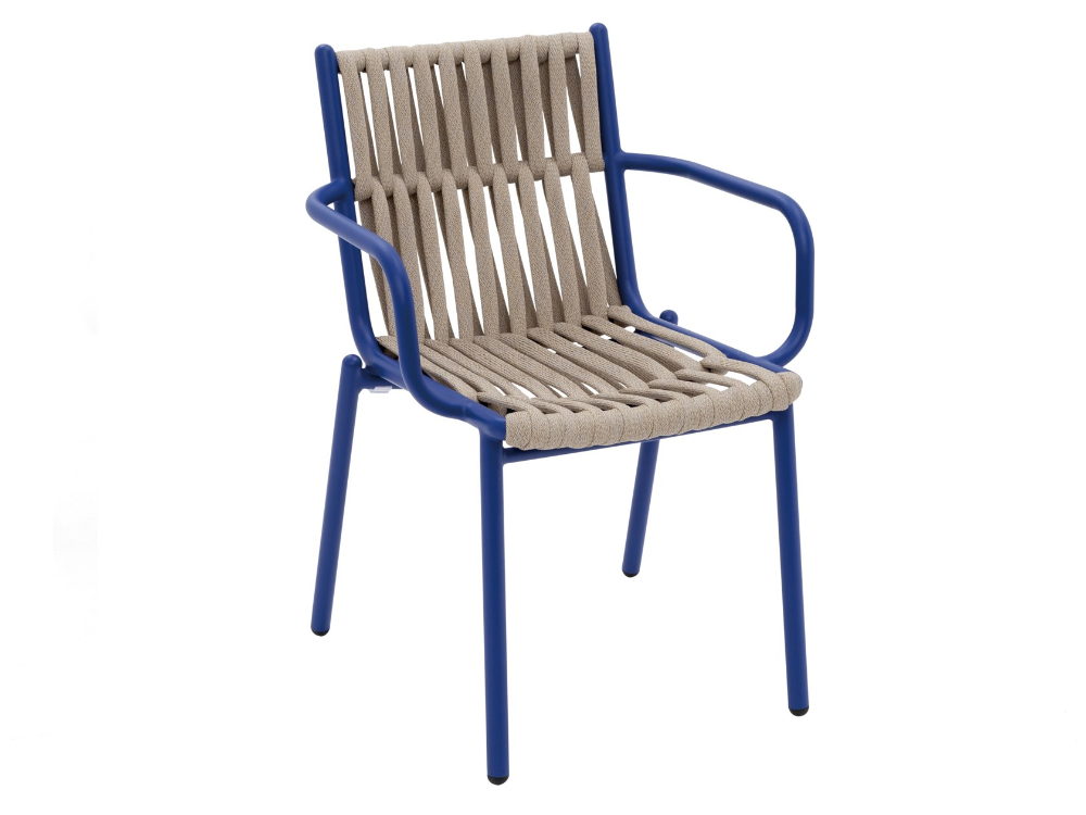 Rope Garden Chair With Armrests Loop By Kun Design Design Kun Qi In 2020 Garden Chairs Chair Outdoor Furniture