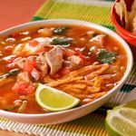 Tortilla Soup, can modify with plantain chips for whole 30?