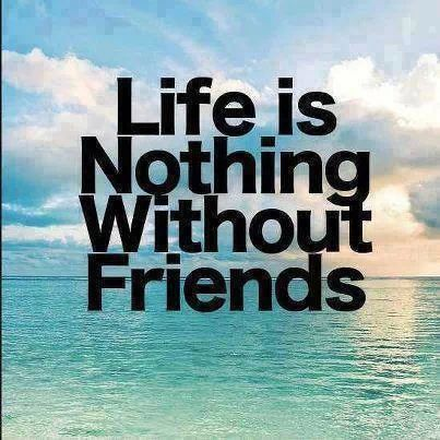 Without friends, life is meaningless. There wouldn't be