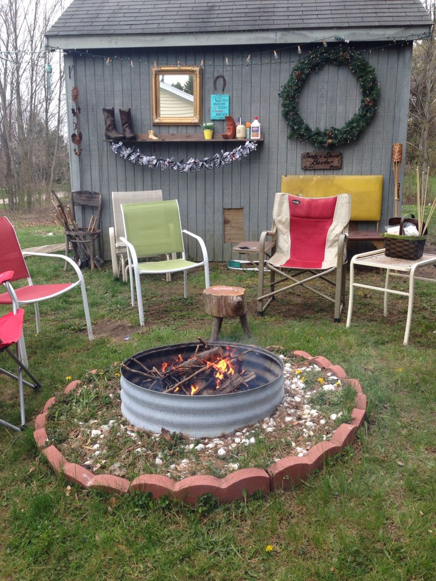 Outdoor Entertaining Fire Pit Backyard