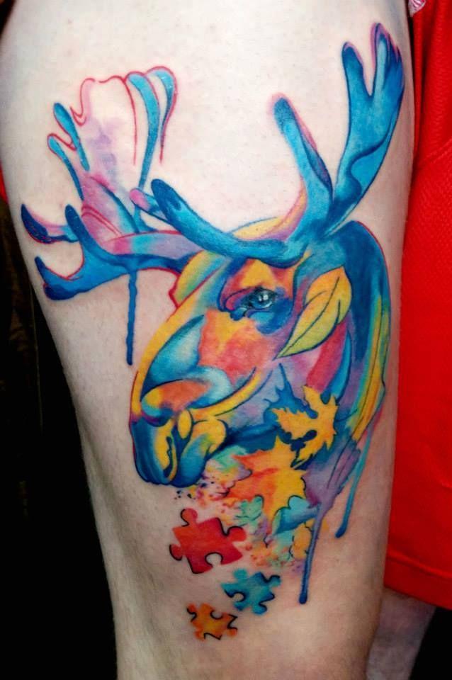 Toronto Tattoo Paint Style Moose