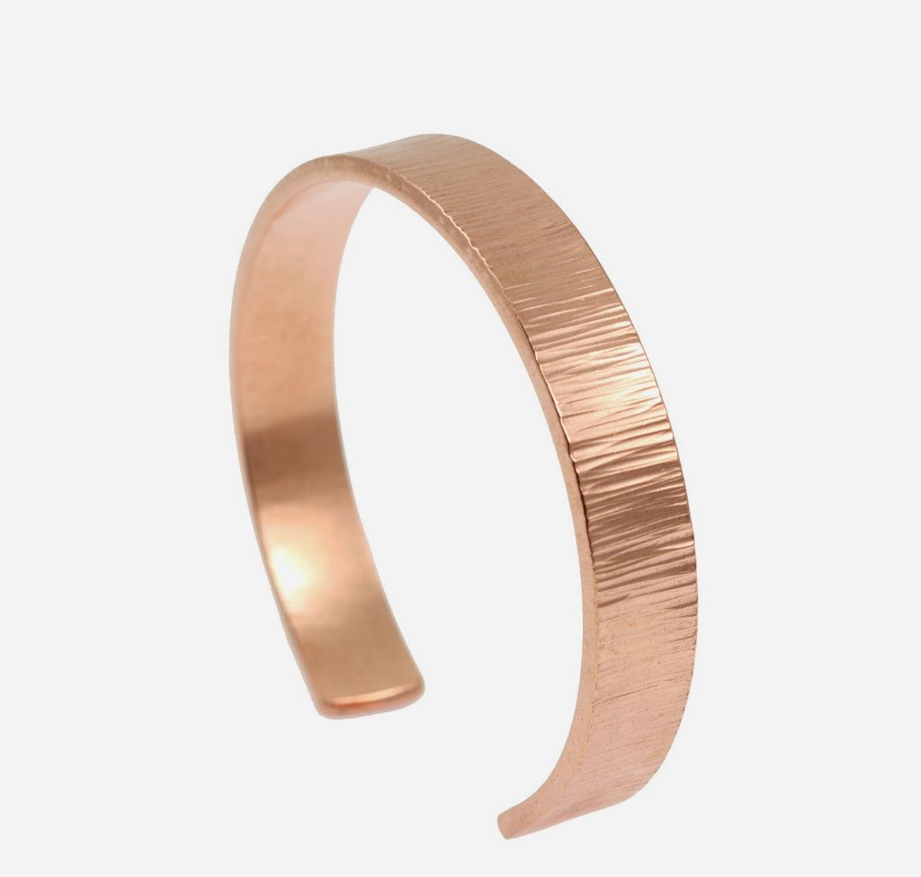 Best 10mm Wide Chased Rose Gold-tone Cuff Showcased by #JohnSBrana #Handmade #WristParty https://www.johnsbrana.com/products/10mm-wide-chased-copper-cuff-bracelet-solid-copper-cuff