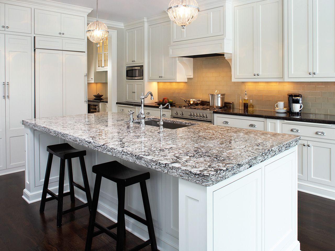 Cream Glass Subway Tile | Cambria quartz