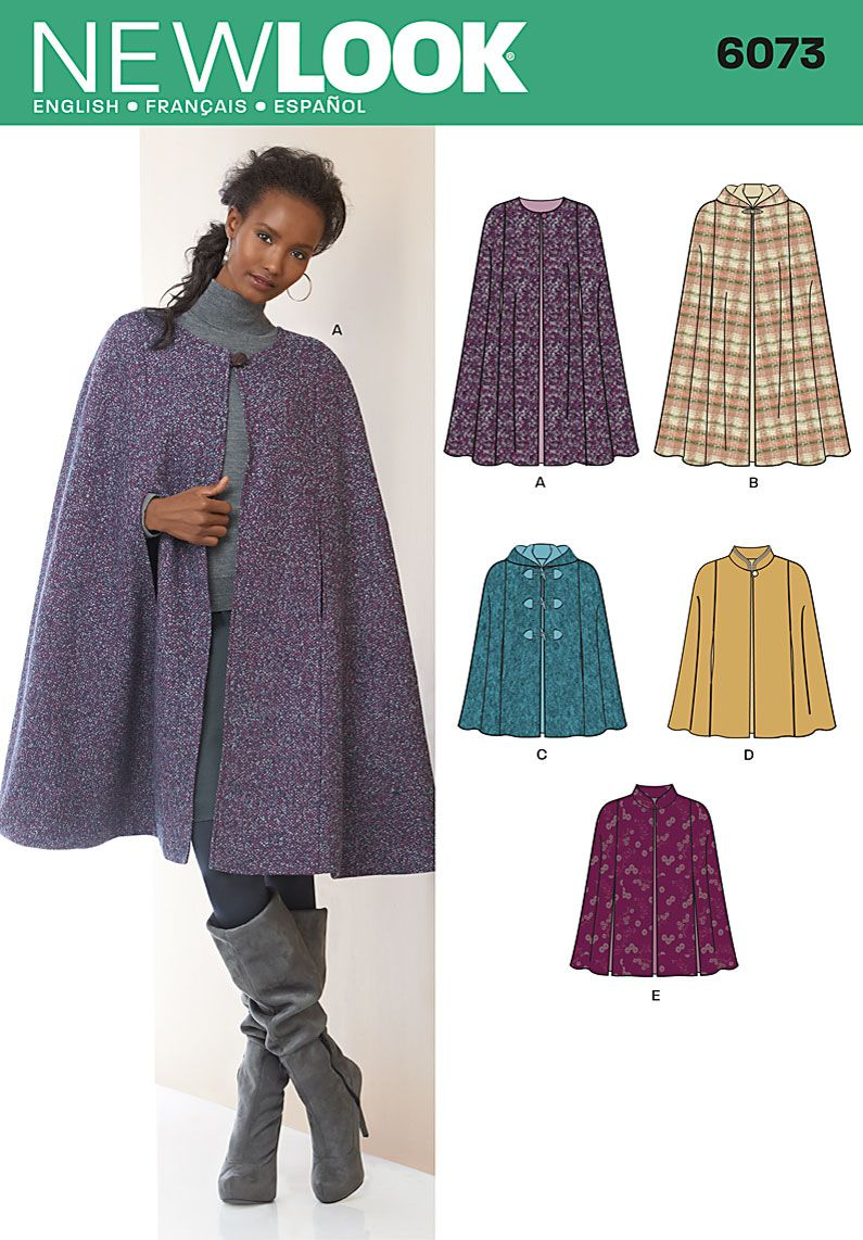 Long Hooded Cape Sewing Pattern - Laura Marsh Sewing Patterns ...