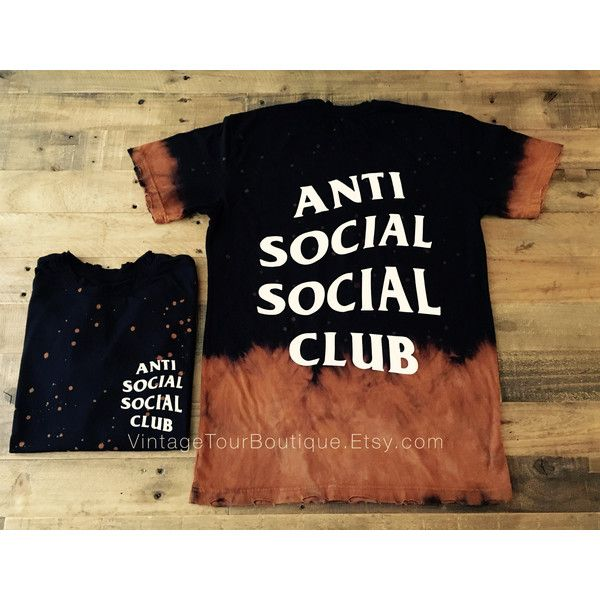 893378fafa0e Anti Social Social Club Tee Shirt Bleached Distressed ASSC Kanye West...  (161795