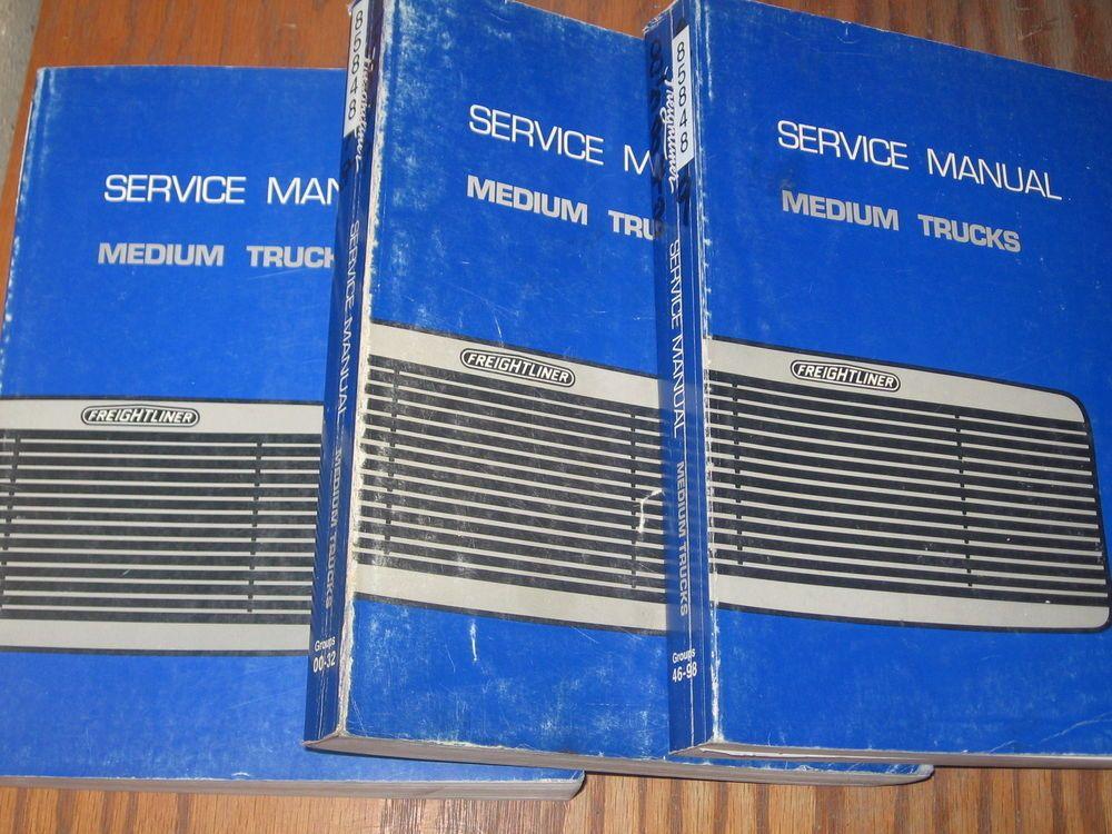 Freightliner Fl60 Fl70 Fl80 Mb60 Mb70 Mb80 Truck Shop Service Manual Set 3 Freightliner Trucks Cars Trucks