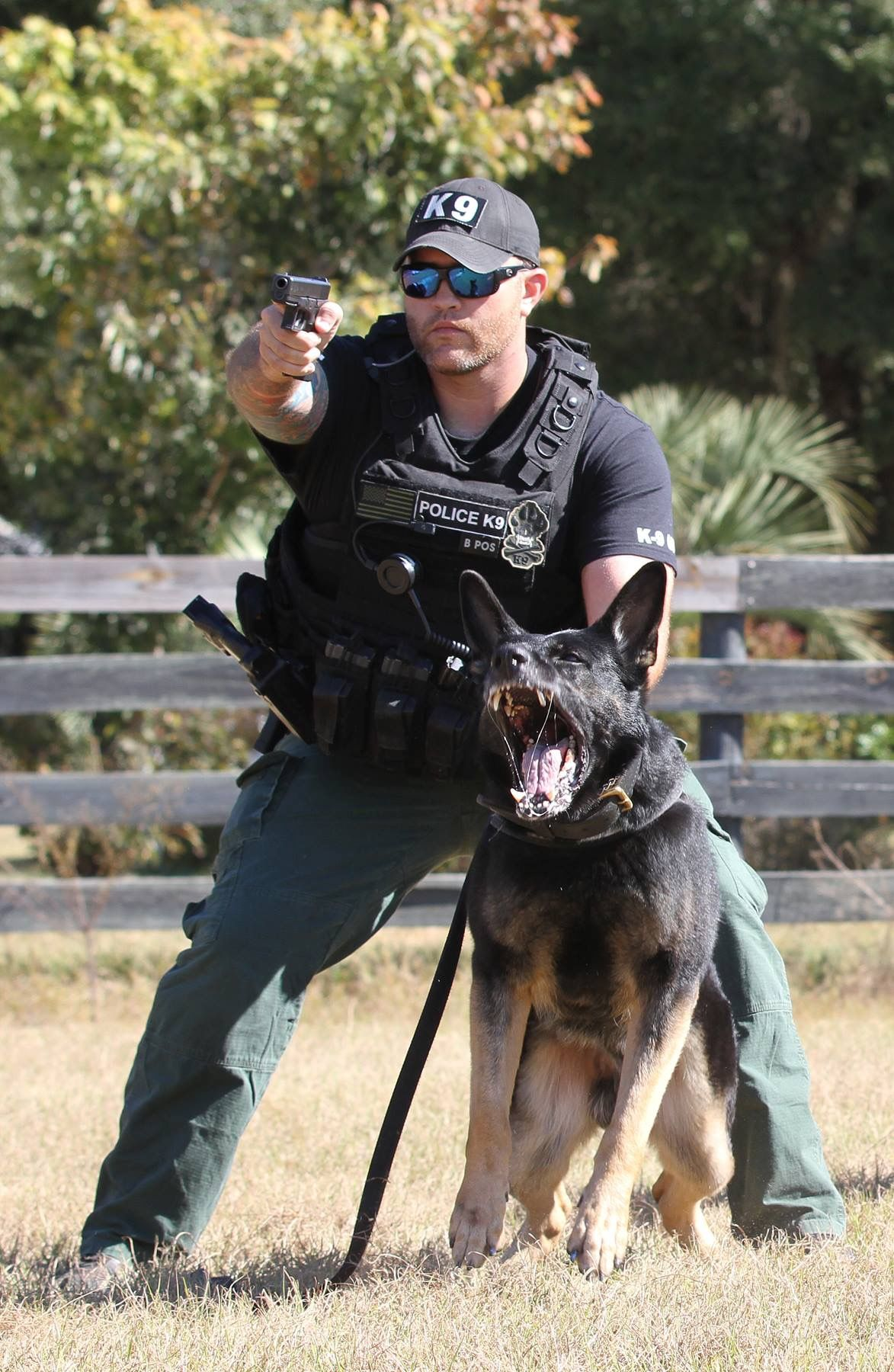 Key West Officer C Richardson And K9 Cyruss Military Dogs Military Working Dogs Police Dogs