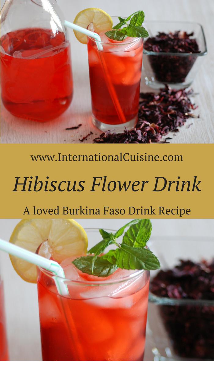 Hibiscus Flower Drink Bissap Du Burkina Faso Recipe Vegan Drinks African Food Recipes