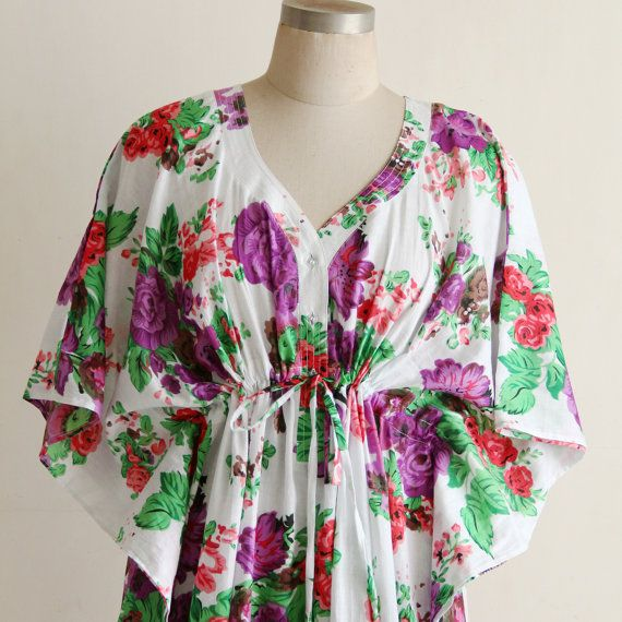 Hospital feeding gown, Caftan, Maternity dress in purple rose ...
