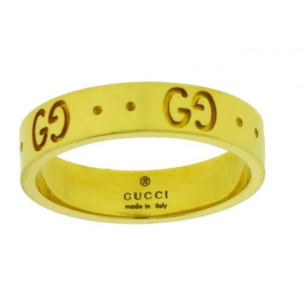 Pre owned Gucci 18K Yellow Gold Icon Thin Band Band Ring $589