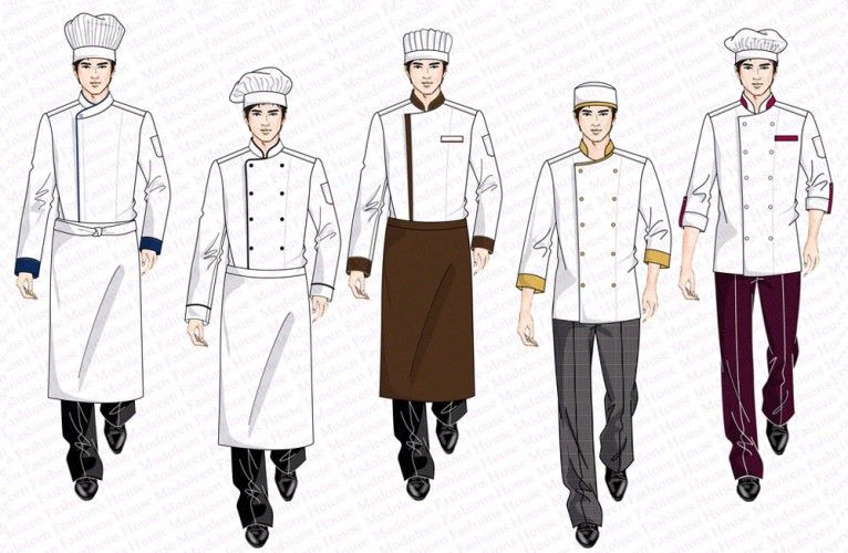 Restaurant uniform design kitchen chef