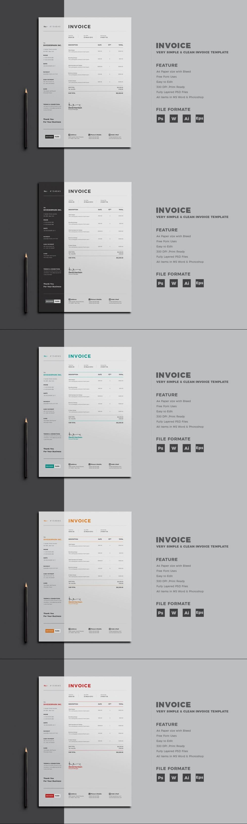 Invoice Corporate Invoicecalculator Stationerydesign Shopinvoice Invoicetemplate Clean Folder Stationery Templates Stationery Design Stationery Printing