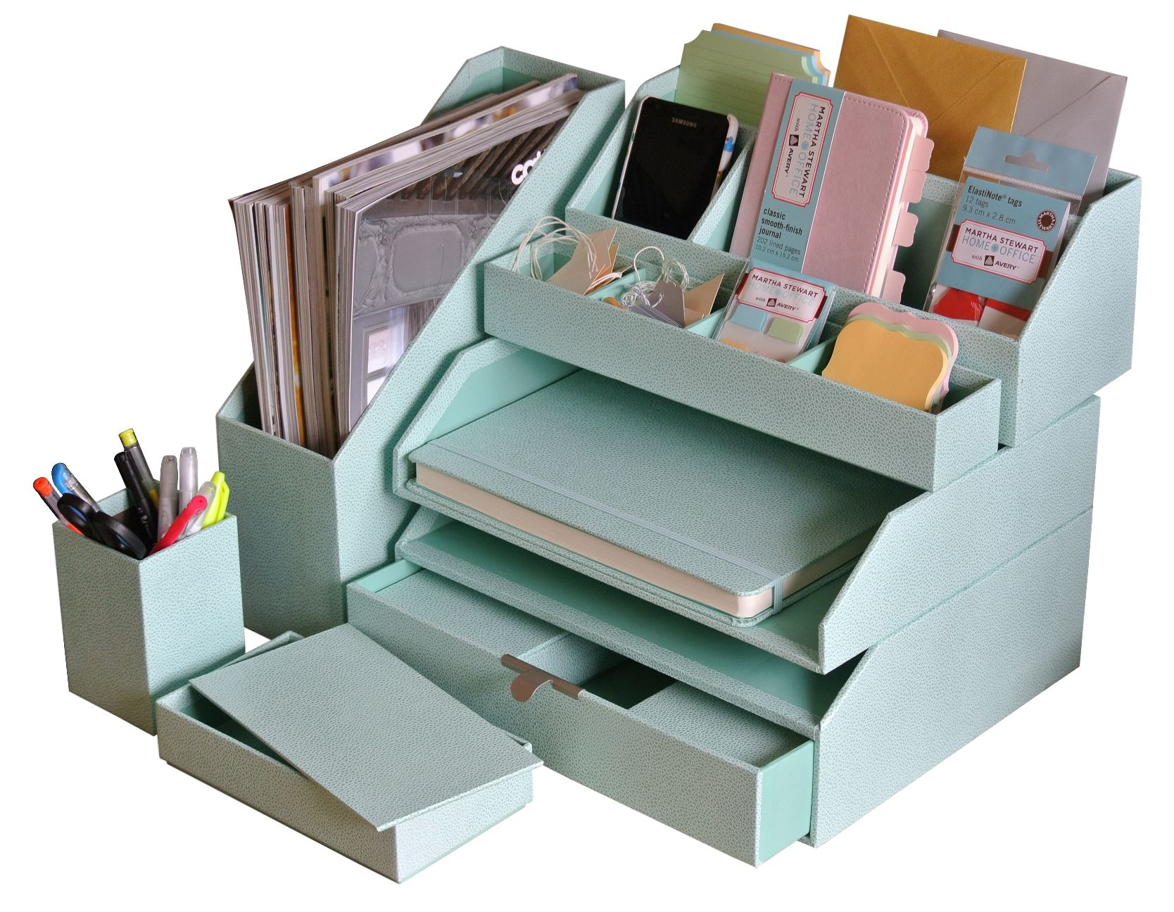 Genial Our Solution For A Small Space   Martha Stewartu0027s Stack+Fit Desk Accessories  Available Online